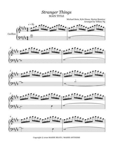 Stranger Things Main Titles For Carillon music sheet