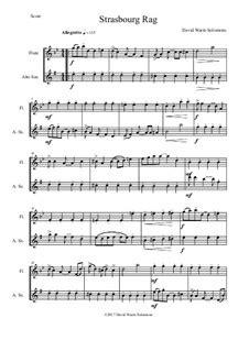 Strasbourg Rag Flute And Alto Saxophone  music sheet