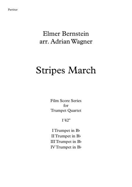 Stripes March Elmer Bernstein Tuba Quartet Arr Adrian Wagner  music sheet