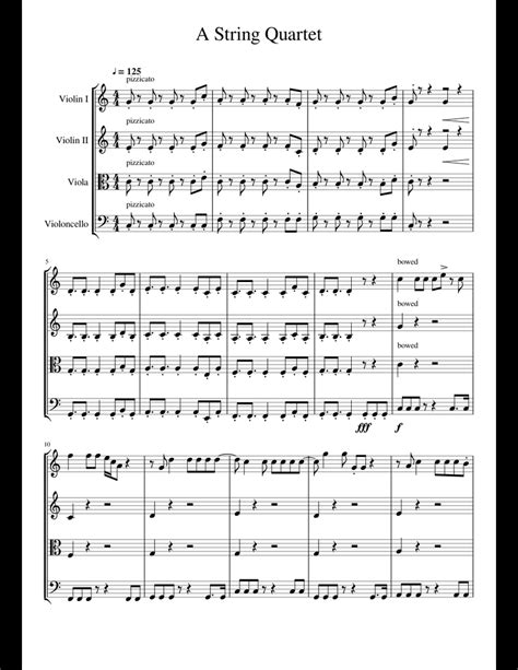 Stuck With U String Quartet Score And Parts  music sheet