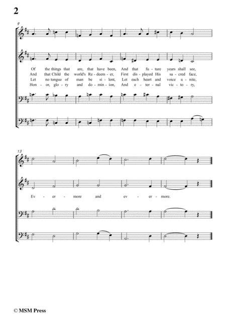 Stults The Story Of Christmas No 3 Hymn Of The Fathers Love Begotten In E Major  music sheet