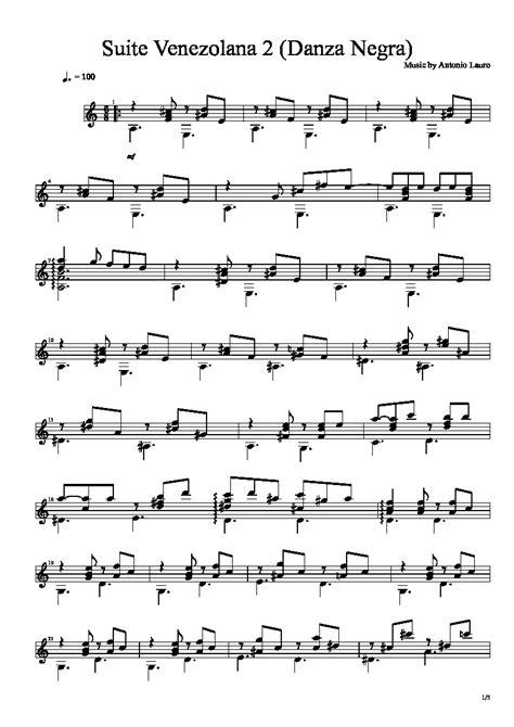 Suite Venezolana N 2  music sheet