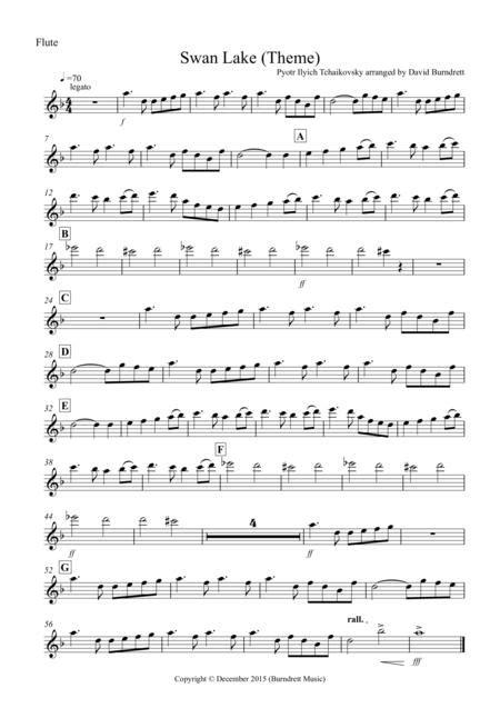 Swan Lake Theme For Wind Quartet  music sheet