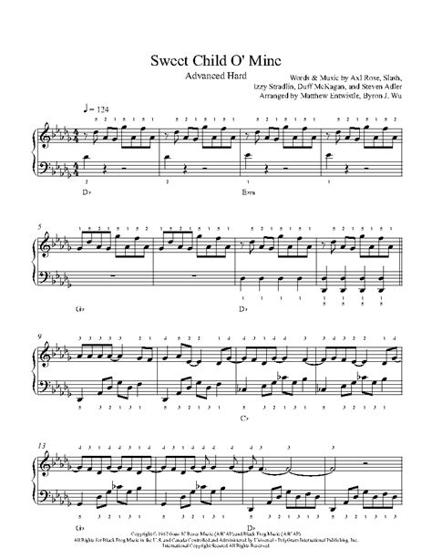 Sweet Child O Mine Strings As A Lullaby  music sheet
