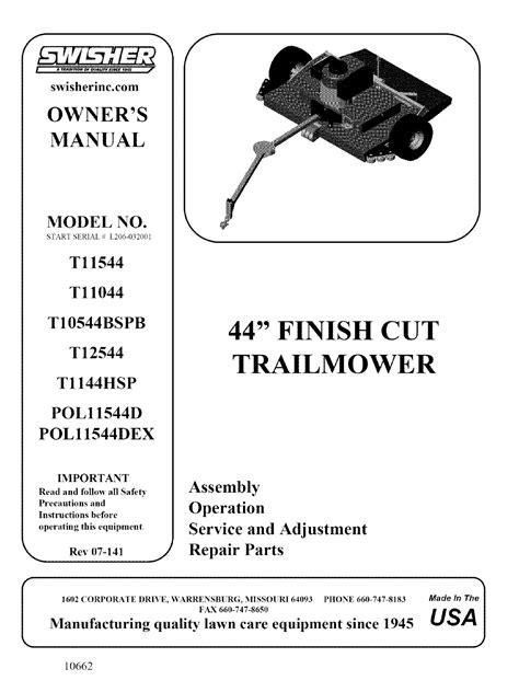 free download ebooks Swisher Mower Manual.pdf