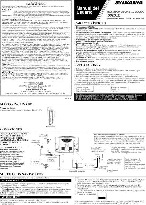 free download ebooks Sylvania Lcd Television 6620le Manual.pdf