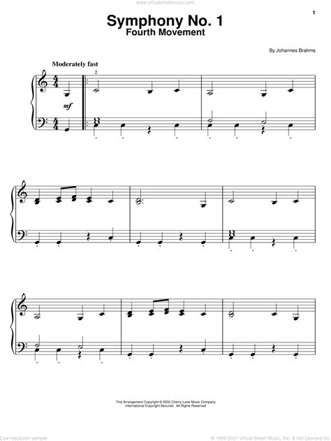 Symphony No 1 Excerpts  music sheet