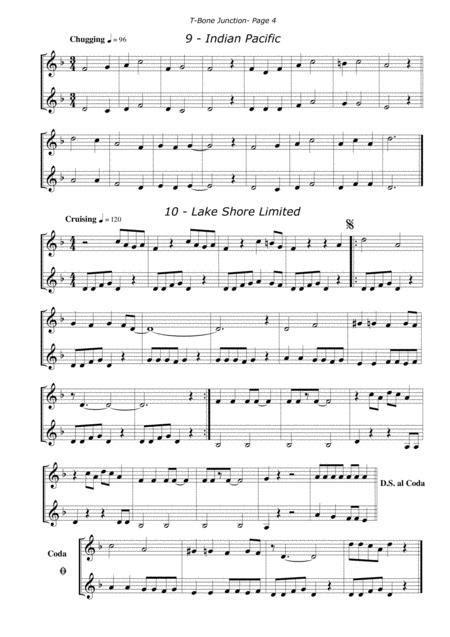 T Bone Junction Brass Duets In Treble Bass Clef  music sheet