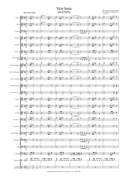 Taat Setia Slow March 80 Steps  music sheet