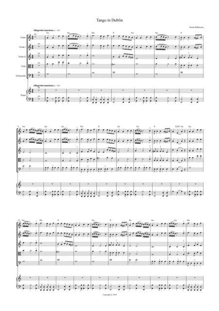 Tango In Dublin Complete Parts For Piano Quintet String Quartet Plus Piano  music sheet
