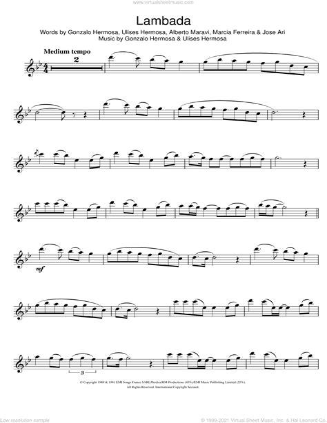 Tango Solo Flute High  music sheet