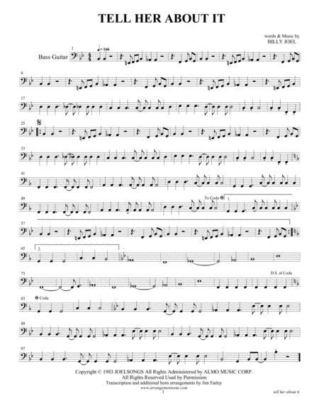 Tell Her About It Arranged For 7 8 Piece Horn Band  music sheet