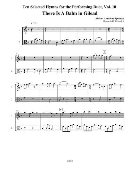 Ten Selected Hymns For The Performing Duet Vol 3 Viola And Cello  music sheet