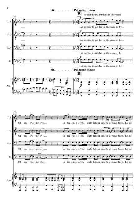 Teo Torriatte Let Us Cling Together Queen For Ttbb Piano  music sheet
