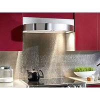 Textured Stainless Steel Backsplash
