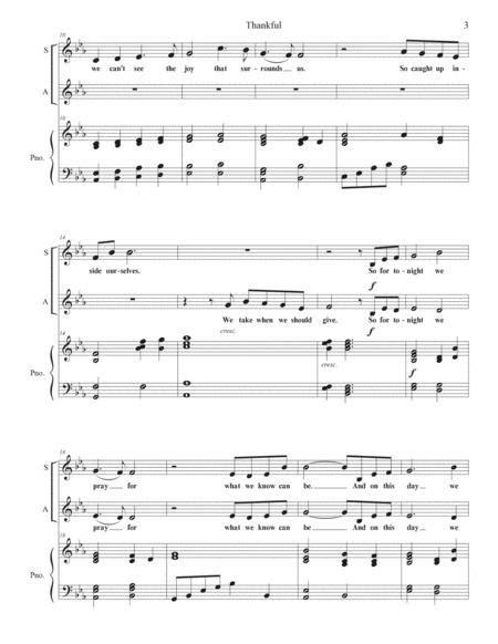 thankful soprano and alto duet music sheet
