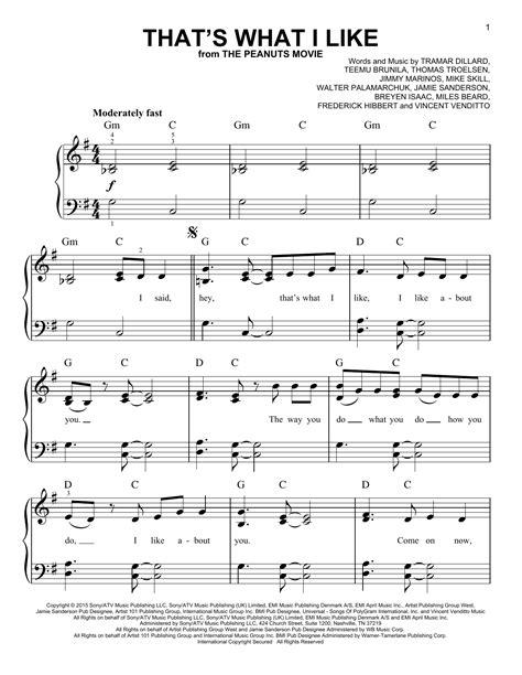 Thats What I Like  music sheet