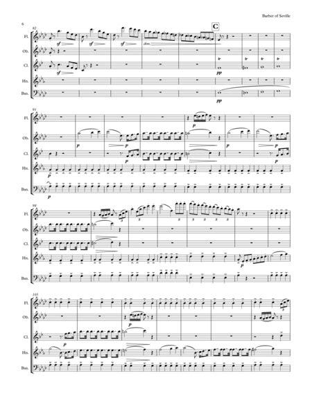The Barber Of Seville Overture For Woodwind Quintet  music sheet