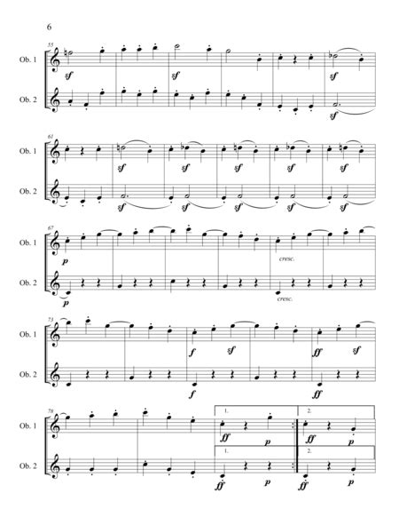 The Beethoven Duets For Oboe Scherzo No 1  music sheet