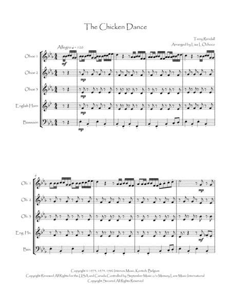 The Chicken Dance For Double Reed Quintet  music sheet