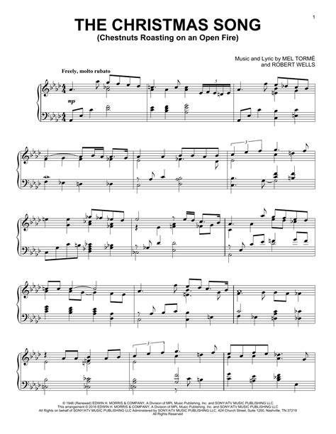 The Christmas Song Chestnuts Roasting On An Open Fire Jazz Guitar Chord Melody  music sheet