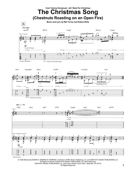 The Christmas Song Chestnuts Roasting On An Open Fire Only Voice  music sheet