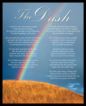the dash poem printable The Dash Rainbow Desktop Print