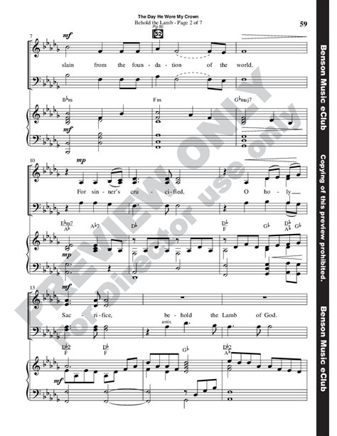 the day he wore my crown vocal quartet satb music sheet