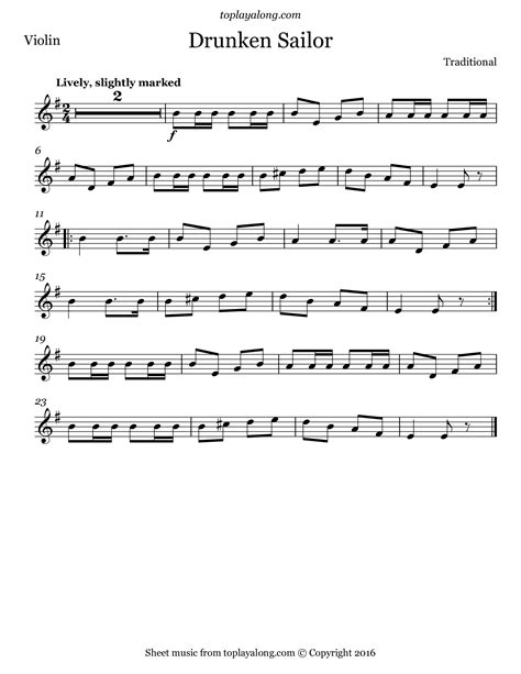 The Drunken Sailor For Solo Cello And And Piano  music sheet