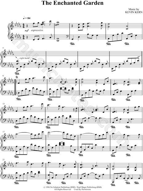 The Enchanted Garden  music sheet