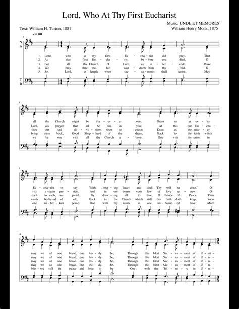 The Eucharist  music sheet