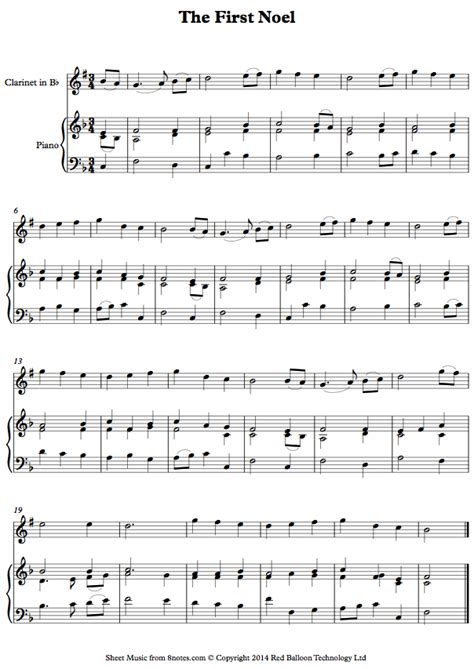 The First Noel For Two Clarinets And Bass Clarinet  music sheet