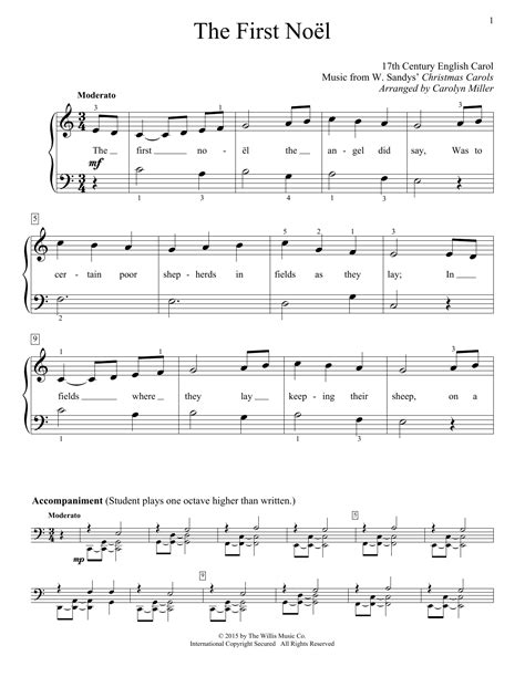 The First Noel Piano And Recorder music sheet