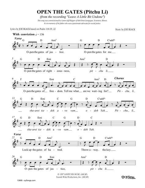 The Gate  music sheet