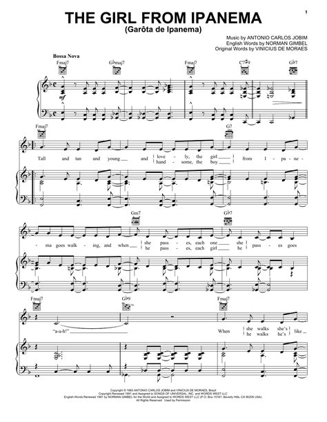The Girl From Ipanema For Alto Recorder Tenor Recorder Piano  music sheet