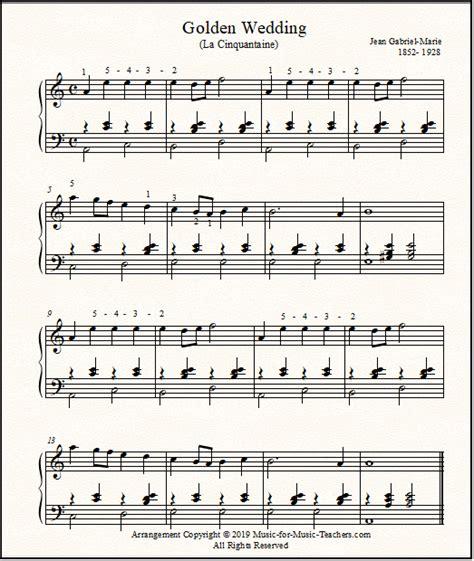 The Golden Wedding  music sheet