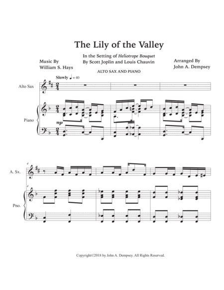 The Lily Of The Valley Heliotrope Bouquet Oboe And Piano  music sheet
