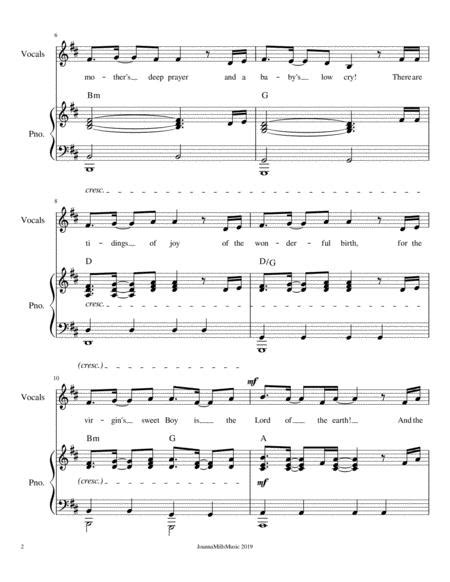 The Manger Of Bethlehem For 2 Part Choir  music sheet