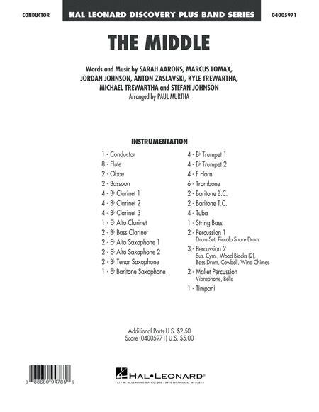 The Middle Arr Paul Murtha Conductor Score Full Score music sheet