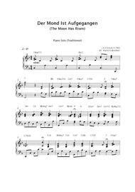 The Moon Is Risen Der Mond Ist Aufgegangen  music sheet