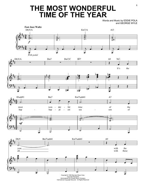 The Most Wonderful Time Of The Year Guitar Fingerstyle  music sheet