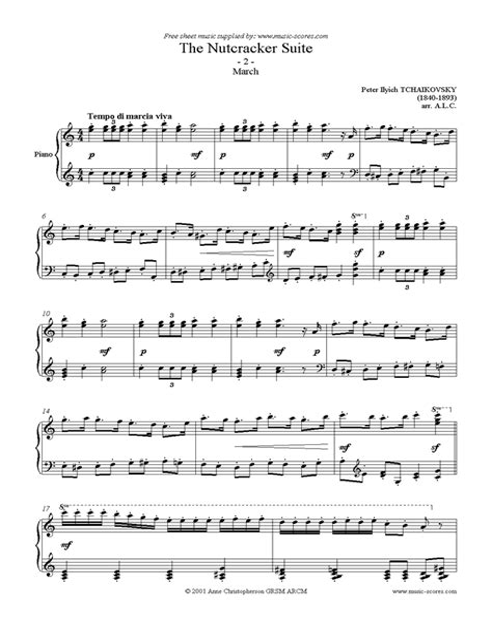 The Nutcracker Suite 2 March  music sheet