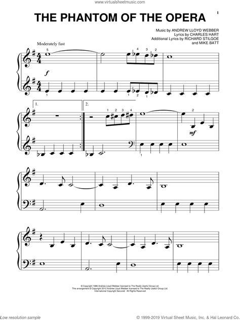 The Phantom Of The Opera  music sheet