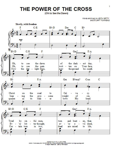 The Power Of The Cross Oh To See The Dawn Horn In F  music sheet