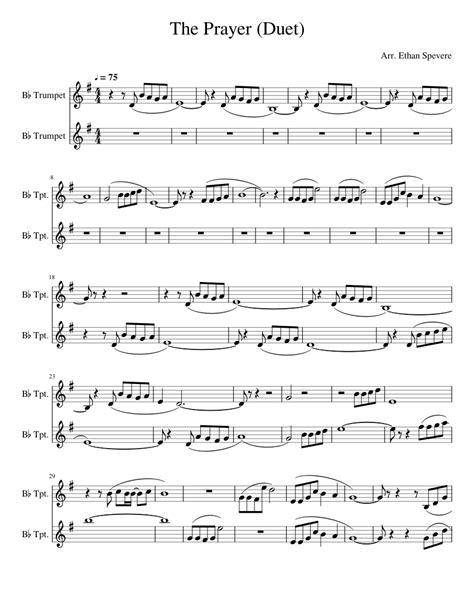 The Prayer Duet For C Instruments  music sheet
