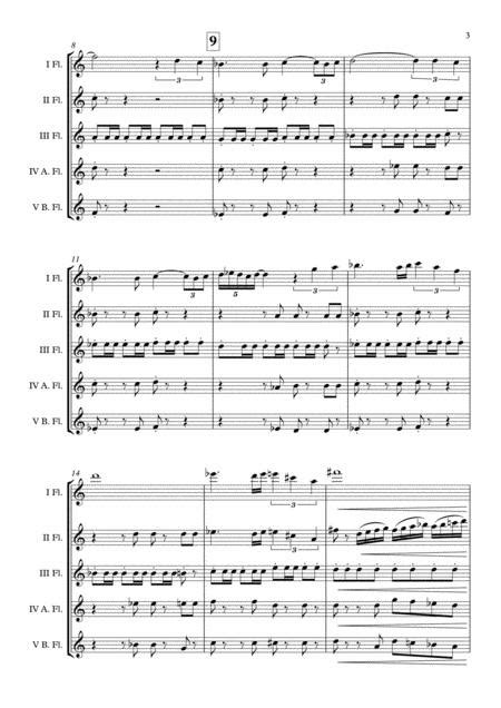 The Quick And The Dead Alan Silvestri Flute Choir Arr Adrian Wagner  music sheet