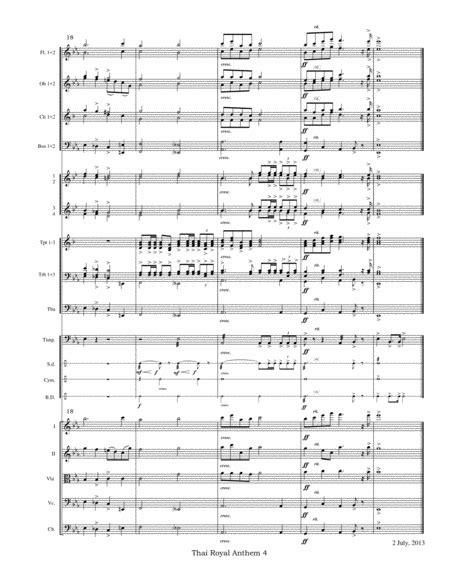 The Royal Anthem Of Thailand Arr Satb  music sheet