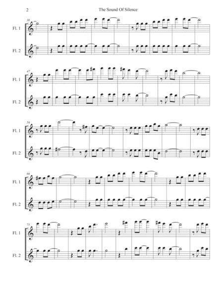 The Sound Of Silence Easy Key Of C Oboe Duet  music sheet