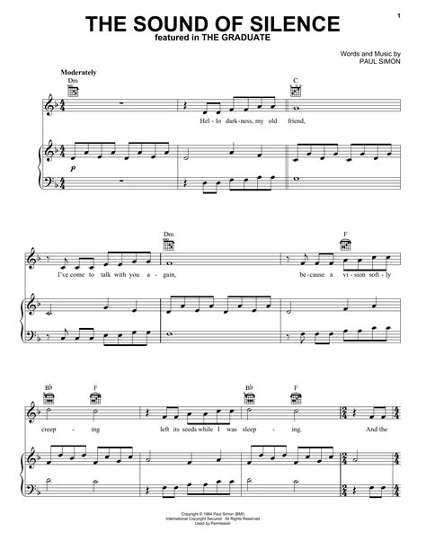 The Sound Of Silence Very Easy Piano With Free Video Tutorials  music sheet