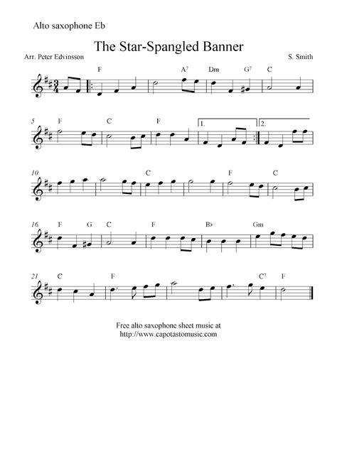 The Star Spangled Banner Alto Sax  music sheet